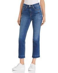 Rag & Bone - Hana Raw-edge Cropped Flared Jeans In Blair - Lyst