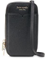 Kate Spade Zeezee Leather Phone Crossbody - Black