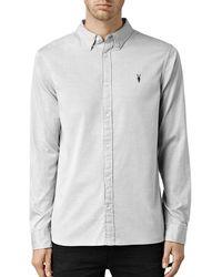 AllSaints Redondo Slim Fit Button - Down Shirt - Gray