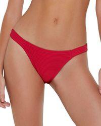 ViX Dune Fany Full Bikini Bottom - Red