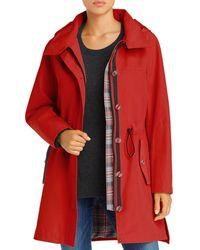 Pendleton Bodega Bay Hooded Trench Coat - Red