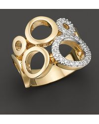 Bloomingdale's - Circular 14 Kt. Yellow Gold And Diamond Ring, 0.25 Ct. T.w. - Lyst