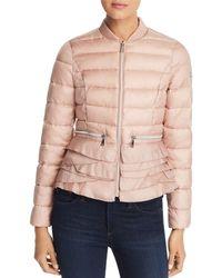 T Tahari Emily Lightweight Short Quilted Coat - Pink