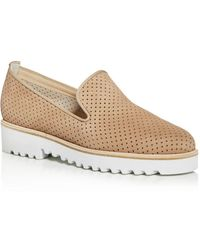 Paul Green Women's Cailey Perforated Platform Loafers - Natural