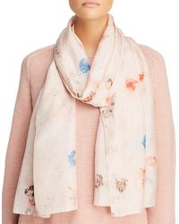 Eileen Fisher Abstract Silk Scarf - Multicolor