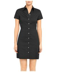 Theory Button-down Short-sleeve Shirtdress - Black