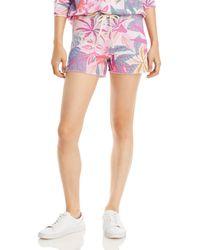Sundry Tropical Print Shorts - Pink