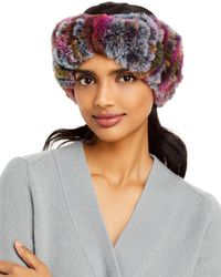 Surell Faux Fur Stretch Knit Headband - Multicolor