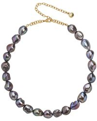 BaubleBar - Lacey Dyed Natural Pearl Statement Necklace - Lyst