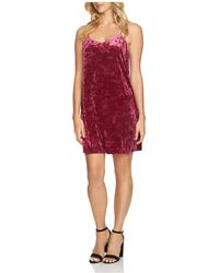 Cece by Cynthia Steffe - Mia Crushed Velvet Slip Dress - Lyst