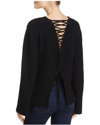 Olivaceous - Lace-up Back Sweater - Lyst