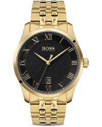 BOSS by Hugo Boss Men's Master Date Bracelet Strap Watch - Metallic