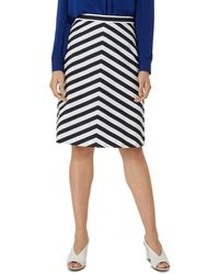 Hobbs Talisa Striped A Line Skirt - Blue