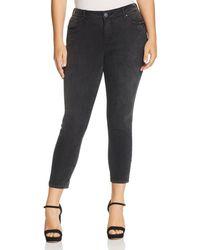 Slink Jeans Plus Slink Jeans Slim Ankle Jeans In Black