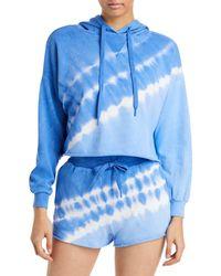 Aqua Tie Dyed Hoodie - Blue