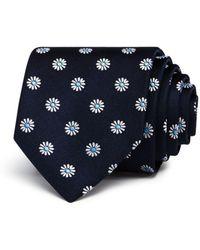 HUGO - Neat Macro Daisy Silk Skinny Tie - Lyst