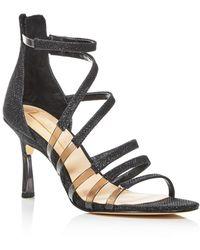Imagine Vince Camuto Women's Roselle Glitter Strappy High - Heel Sandals - Black