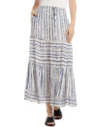 Karen Kane Tie - Dyed Tiered Skirt - Multicolor