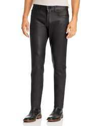 Joe's Jeans Asher Slim Fit Lamb Leather Trousers In Jet Black