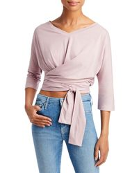 7 For All Mankind Cotton Twisted Top - Pink