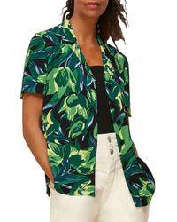 Whistles Tulip Print Shirt - Green