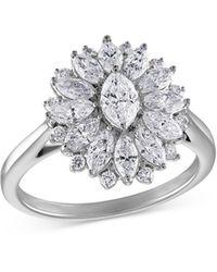 Bloomingdale's Diamond Statement Ring In 14k White Gold