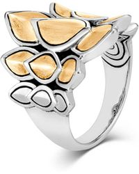 John Hardy - 'legends Naga' 18k Yellow Gold Silver Small Saddle Ring - Lyst