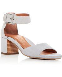 Gentle Souls - Women's Christa Suede Ankle Strap Block Heel Sandals - Lyst