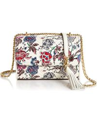 199ba3bc693 Tory Burch - Fleming Small Convertible Floral Leather Shoulder Bag - Lyst