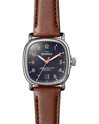 Shinola The Guardian Brown Leather Watch