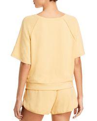 Eberjey Blair Meadow Cropped Short Sleeve Sweatshirt - Multicolour
