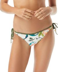 Vince Camuto String Triangle Bikini Bottom - Multicolour