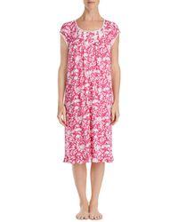 Eileen West - Cap Sleeve Long Nightgown - Lyst