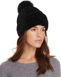 Maximilian - Mink Fur Hat With Fox Fur Pom-pom - 100% Bloomingdale's Exclusive - Lyst
