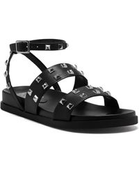 Vince Camuto Pealan Studded Strappy Leather Sandals - Black