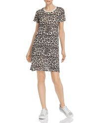 ATM - Leopard - Print T - Shirt Dress - Lyst