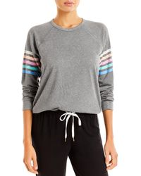 Pj Salvage Rainbow Stripe Lounge Top - Grey