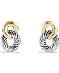 David Yurman - 'belmont' Curb Link Drop Earrings With 18k Gold - Lyst