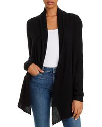 C By Bloomingdale's Open - Front Cashmere Cardigan - Black