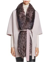 Maximilian - Saga Fox Fur-trim Tunic - Lyst