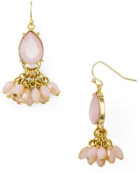 Aqua - Crystal Drop Earrings - Lyst