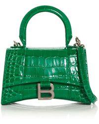 Balenciaga - Hourglass Xs Leather Top Handle Bag - Lyst