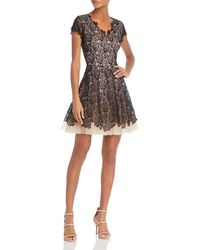 Nha Khanh Floral Lace Dress - Black