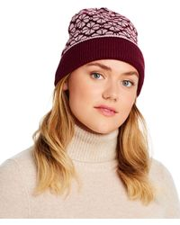 Kate Spade Flower Spade Beanie - Brown