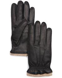 Bloomingdale's Deerskin Gloves - Black