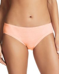 Fine Lines Pure Cotton Bikini - Natural