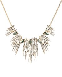 Alexis Bittar Navette Crystal Spiked Bib Necklace - Metallic