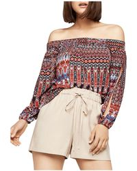 BCBGeneration - Slit-sleeve Off-the-shoulder Top - Lyst