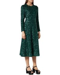 L.K.Bennett - Lazia Green Sequin Dress - Lyst