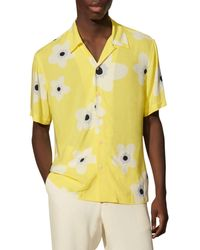 Sandro Bloom Printed Shirt - Yellow